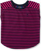 Ralph Lauren Striped Jersey Cap-Sleeve Tee