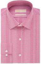 MICHAEL Michael Kors Men's Classic-Fit Dark Pink Gingham Dress Shirt