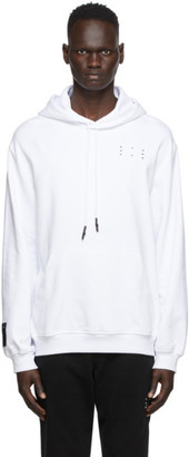 McQ White Core Relaxed Hoodie