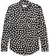 Ami Polka-dot Voile Shirt - Black