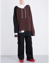 Raf Simons Reflective tape-detail oversized cotton-jersey hoody