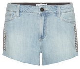 Paige Keira Embroidered Denim Shorts