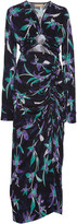MATÉRIEL Lily Ruched Printed Cupro-Blend Maxi Dress