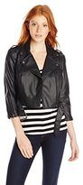 Tripp NYC Junior's Faux Leather Cropped Moto Jacket