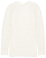 Saint Laurent Cotton-blend Guipure Lace Blouse - White