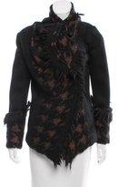 Donna Karan Belted Fringe Jacket w/ Tags