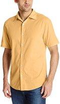 Margaritaville Men's Short Sleeve Solid Dobby Shirt
