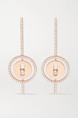 Messika Lucky Move Arrow 18-karat Rose Gold Diamond Earrings - one size
