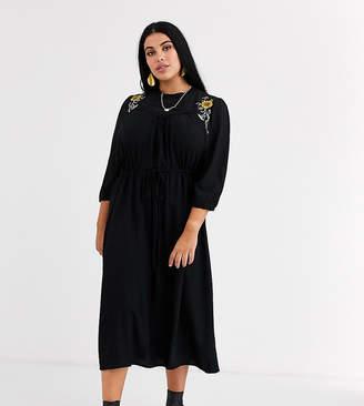 Junarose embroidered midi dress