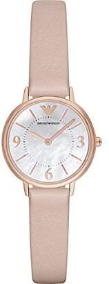 Emporio Armani Women's AR2512 Dress Blush Leather Quartz Watch
