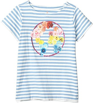 crewcuts by J.Crew Short Sleeve Flower Earth Graphic Tee (Toddler/Little Kids/Big Kids) (Flower Earth) Girl's Clothing