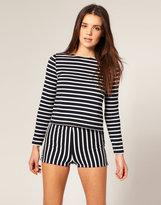 Stripe Crop Knit