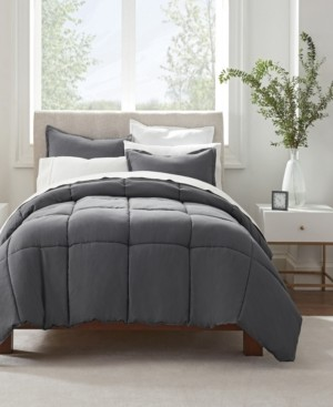 Serta Simply Clean Full and Queen Comforter Set, 3 Piece Bedding