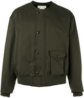 Marni collarless bomber jacket