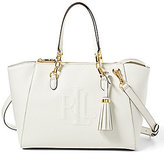Lauren Ralph Lauren Anstey Collection Stefanie II Tasseled Monogram-Stitched Satchel