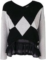 Twin-Set contrast panelled sweater - women - Polyamide/Polyester/Viscose/Wool - XS