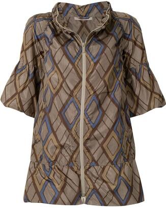 Bottega Veneta Pre-Owned Geometric Print Short-Sleeved Jacket