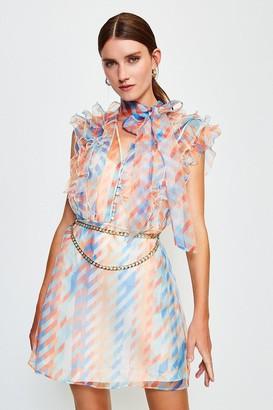 Karen Millen Organza Print Dress