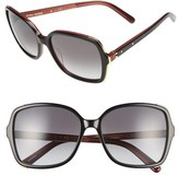Bobbi Brown Women's 'The Alice' 57Mm Sunglasses - Black/ Violet