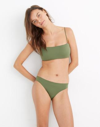 Madewell Second Wave Spaghetti-Strap Bandeau Bikini Top