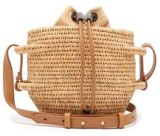 Khokho - Thembi Drawstring-top Basket Bag - Womens - Light Tan