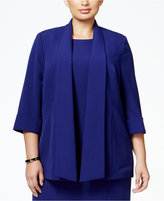 Kasper Plus Size Crepe Open-Front Jacket