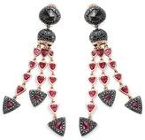 John Hardy Diamond spinel 18k rose gold fringe earrings