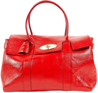 Mulberry Bayswater Red Patent leather Handbags