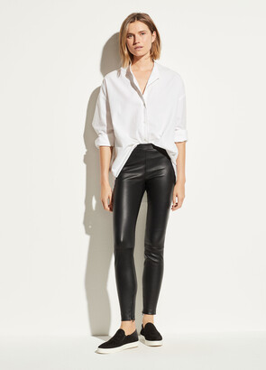 Vince Leather Zip Legging