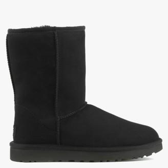 UGG Classic Short II Black Twinface Boots
