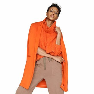 b new york Women's Eco Long Sleeve Cowl Neck Cropped Pullover Sweater