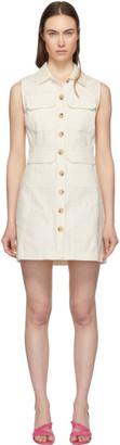 ALEXACHUNG White Corduroy Dress