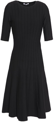 CASASOLA Flared Ribbed Stretch-knit Dress