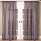 Aura Solid Sheer Window Curtain Panel