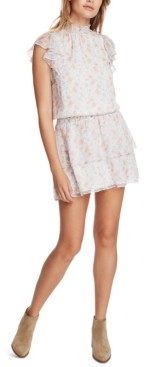 1 STATE Floral-Print Tiered Dress