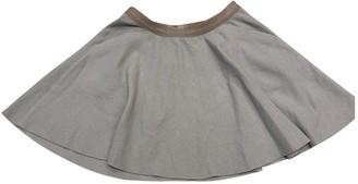 Humanoid Blue Wool Skirt for Women