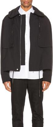 Jil Sander Twill Zip Jacket in Black | FWRD