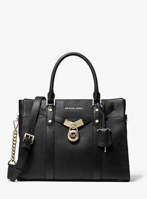 Michael Kors Nouveau Hamilton Large Pebbled Leather Satchel
