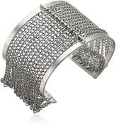 Steve Madden Cutout Open Cuff with Chain Bangle Bracelet