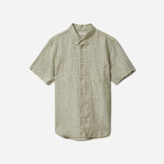 Everlane The Linen Short-Sleeve Standard Fit Shirt