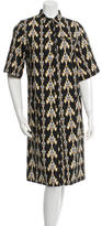 Suno Printed Midi Dress