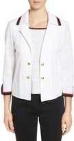 Ming Wang Women's Contrast Trim Notch Collar Jacket