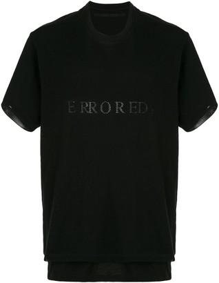 Julius layered mesh T-shirt