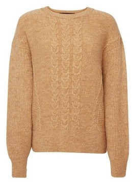 Dorothy Perkins Womens Camel Cable Batwing Jumper