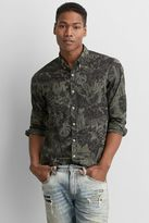 American Eagle Outfitters AE Print Button Down Shirt