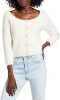 Cotton Emporium Eyelash Crop Cardigan