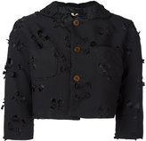 Comme des Garcons cut-out detail cropped jacket - women - Polyester - S