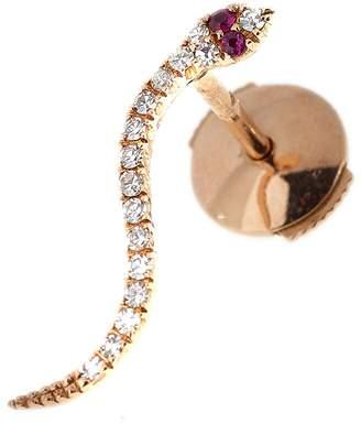 Selim Mouzannar Basilisk Snake Single Stud Earring