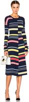 Kenzo Color Block Stripe Dress