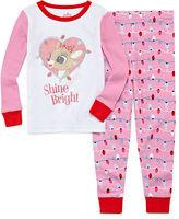 Asstd National Brand Girls Pant Pajama Set-Toddler